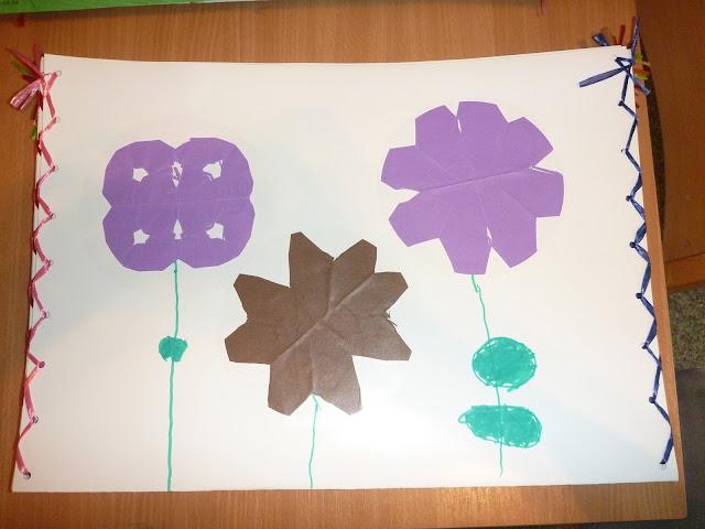 Kindergarten Blumen schneiden Übung