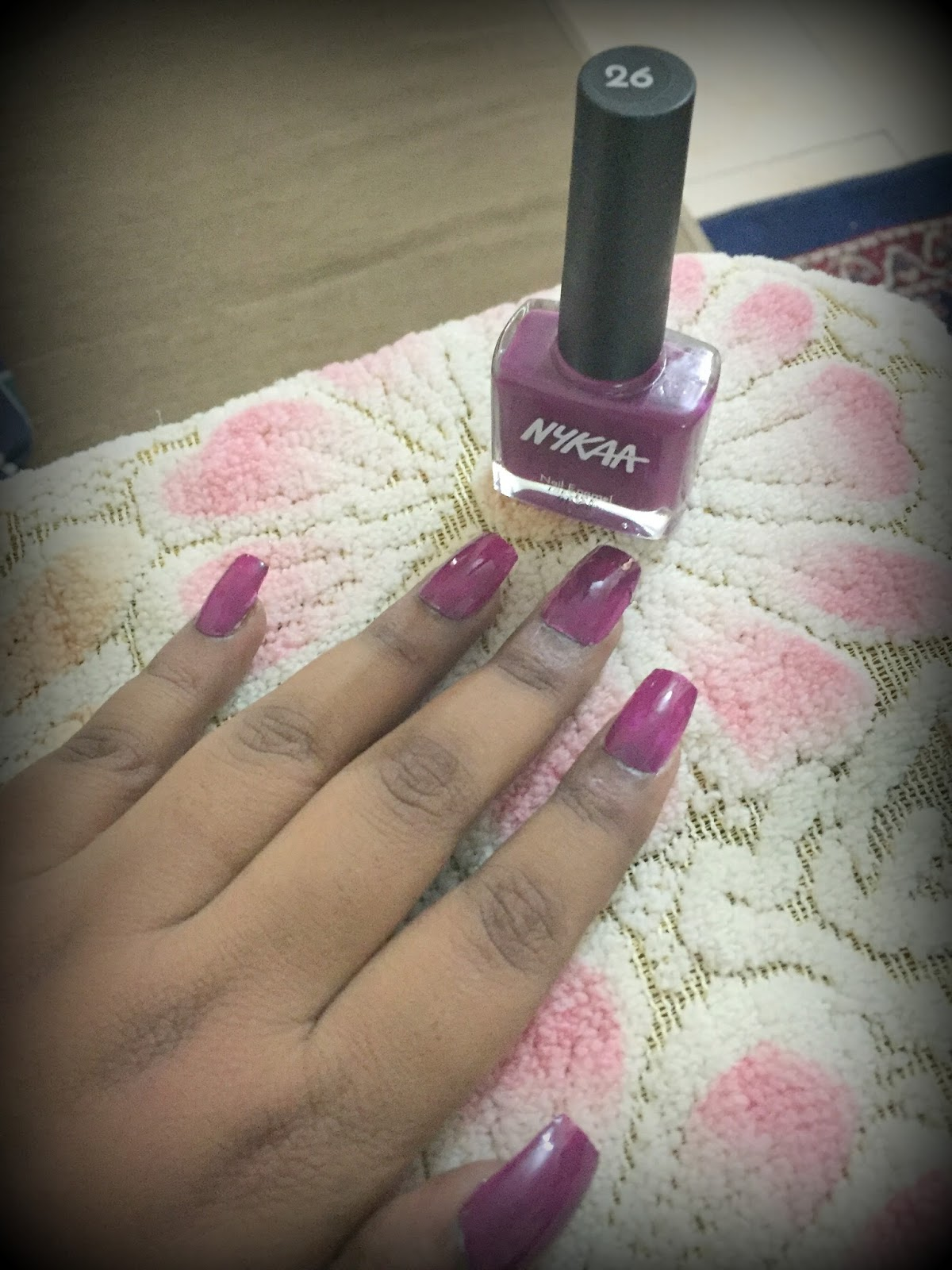 Beautiful...Colorful...U...: Nykaa Nail Polish: Shade 26, 61 and 64