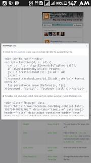 Cara membuat dan memasang halaman facebook tampil di blog