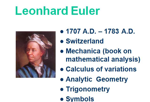 Mathematicians Pythagoras Aristotle Euclid Al-Khwarizmi Leonardo da Vinci Galileo Galilei De L'hopital Leonhard Euler
