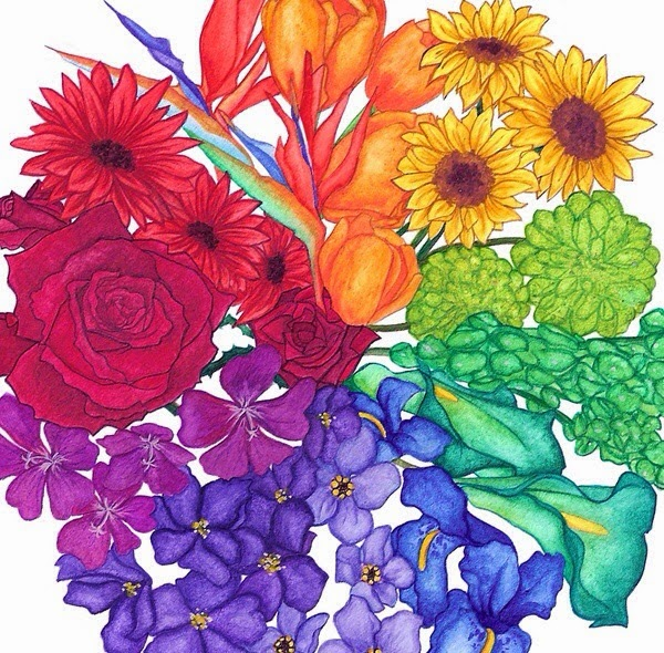 Flower Classroom Beautiful Color Wheel Of Flowers