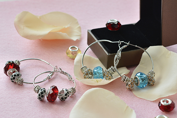 pandora earrings beader garden diy handmade pandora beads hoop earrings