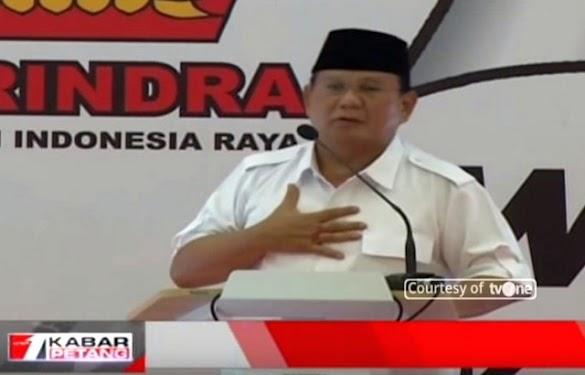 Prabowo: Jika Anda Percaya Saya, Maka Andapun Harus Percaya Wakil yang Saya Pilih