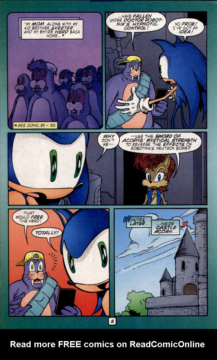 Read online Sonic The Hedgehog comic -  Issue #109 - 4
