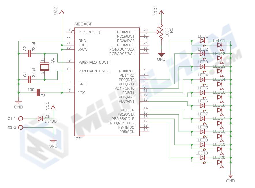 Membuat Running LED Dengan Program Menggunakan Arduino