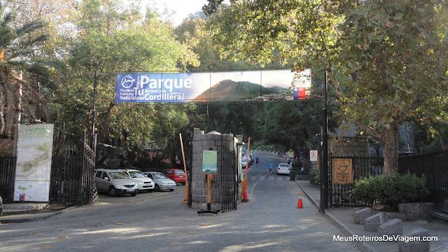 Entrada do Parque Metropolitano de Santiago