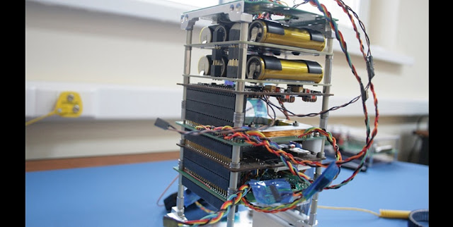SamSat-218 nanosatellite. Photo Credit: SSAU