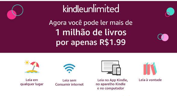 promoção kindle unlimited julho 2019