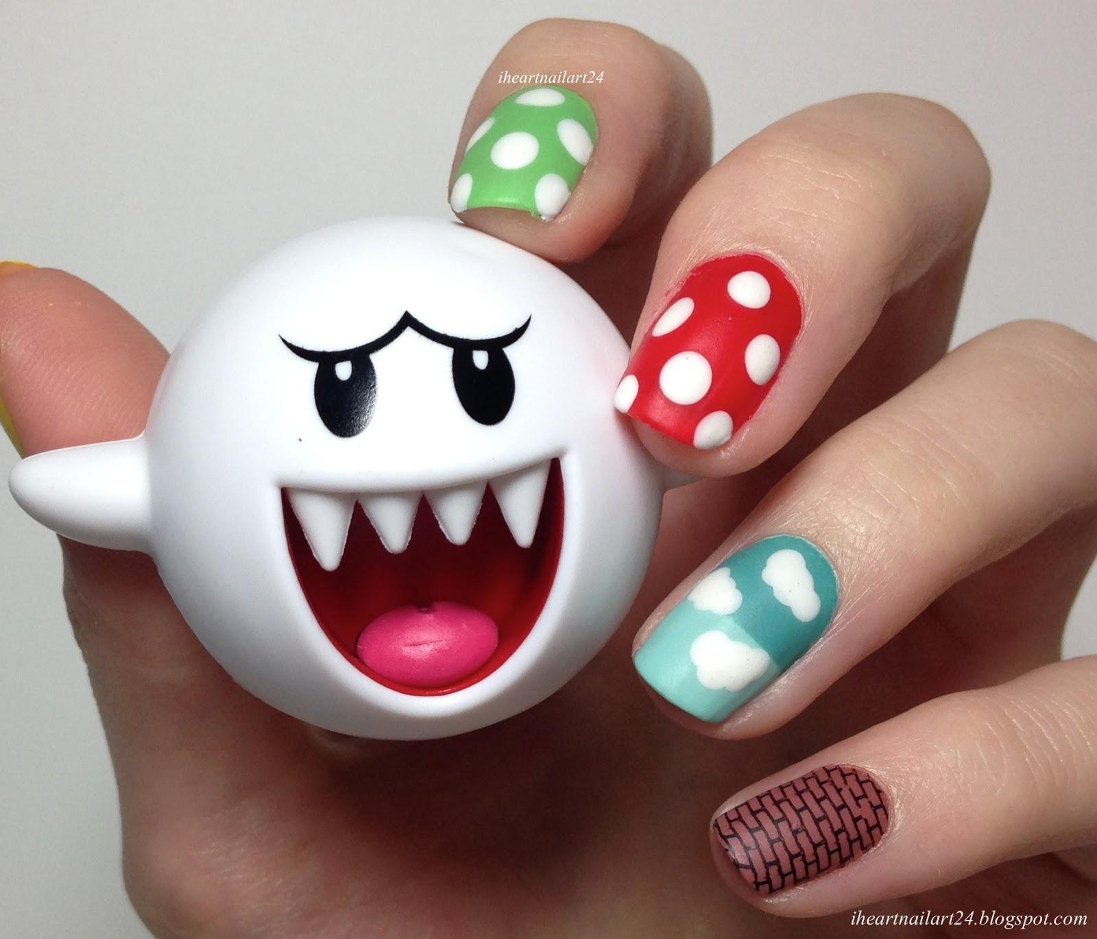It\'s a Me, Mario! | I Heart Nail Art