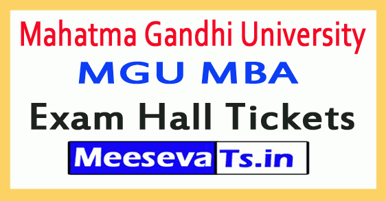 Mahatma Gandhi University MGU MBA Exam Hall Tickets