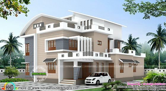 4 bedroom modern mix house plan