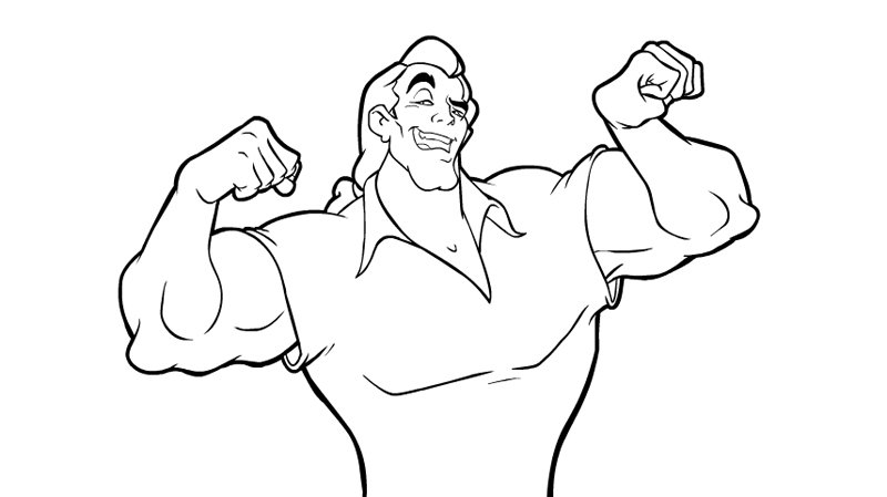 It's just a photo of Unforgettable gaston coloring page