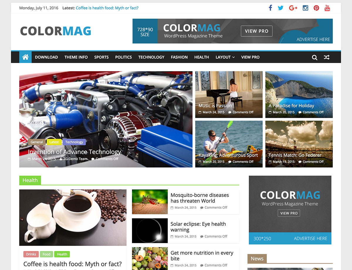 WordPress Ücretsiz Haber Sitesi Teması İndir