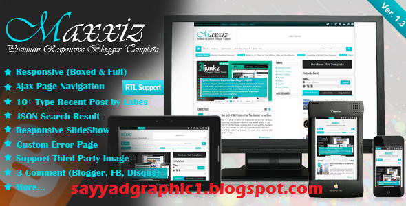 Maxxiz Responsive Magazine/News Blogger Template Free Dwonload
