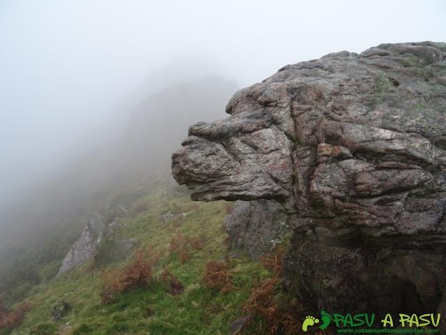 Ruta al Pico Gobia y La Forquita: Roca de camino al Pico Gobia