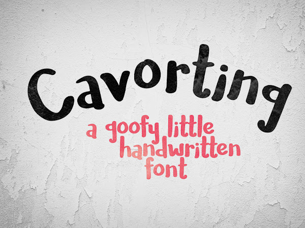 Download Cavorting Handwriting Font Free