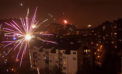 sylwester w Krakowie, fajerwerki