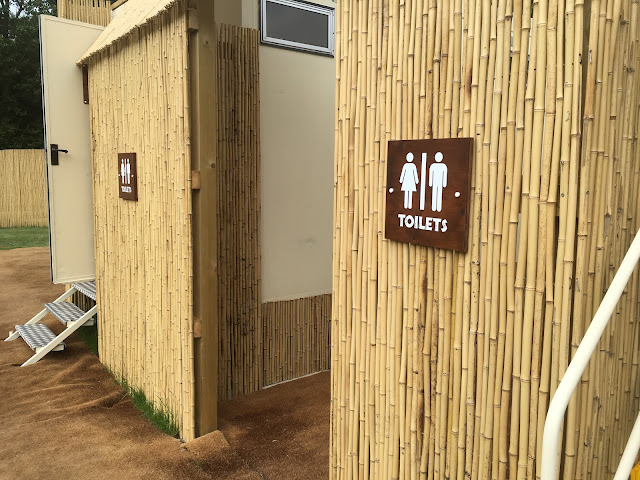 glamping toilets at Chessington