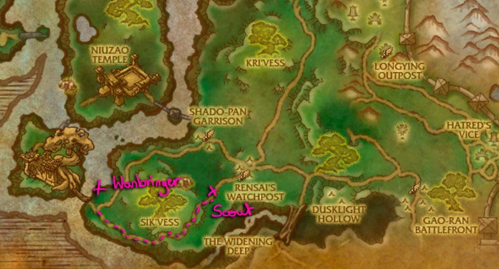 WoW Rare Spawns: Townlong Steppes Rare Champions |Townlong Steppes Map