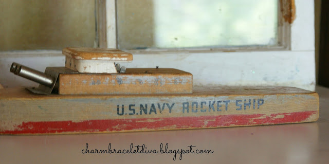 Vintage WWII U.S. Navy Radar Rocket Ship toy