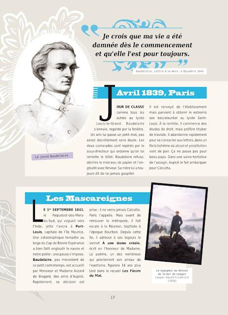 """page de """"Poèmes de Baudelaire en BD"""" Collectif chez Petit à Petit"""