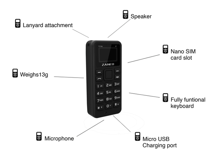 Features of the Zanco tiny t1