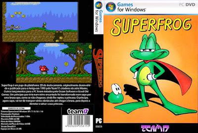 Jogo Superfrog PC DVD Capa