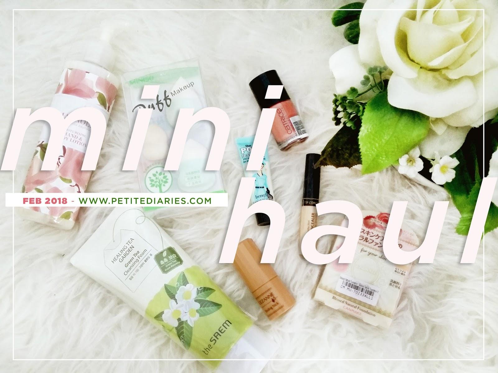 february 2018 mini beauty haul