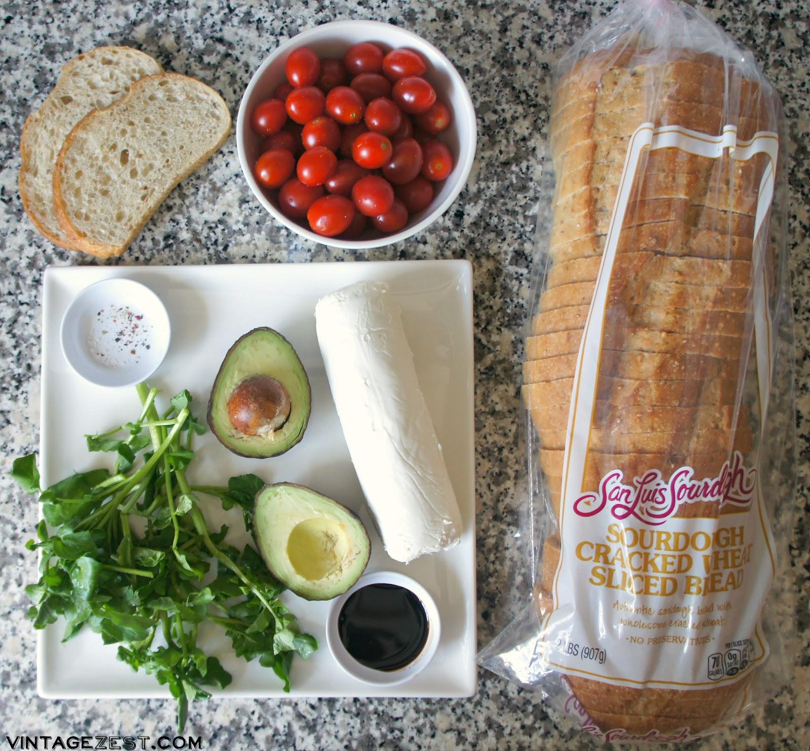 California Fresh Avocado Toast recipe on Diane's Vintage Zest!