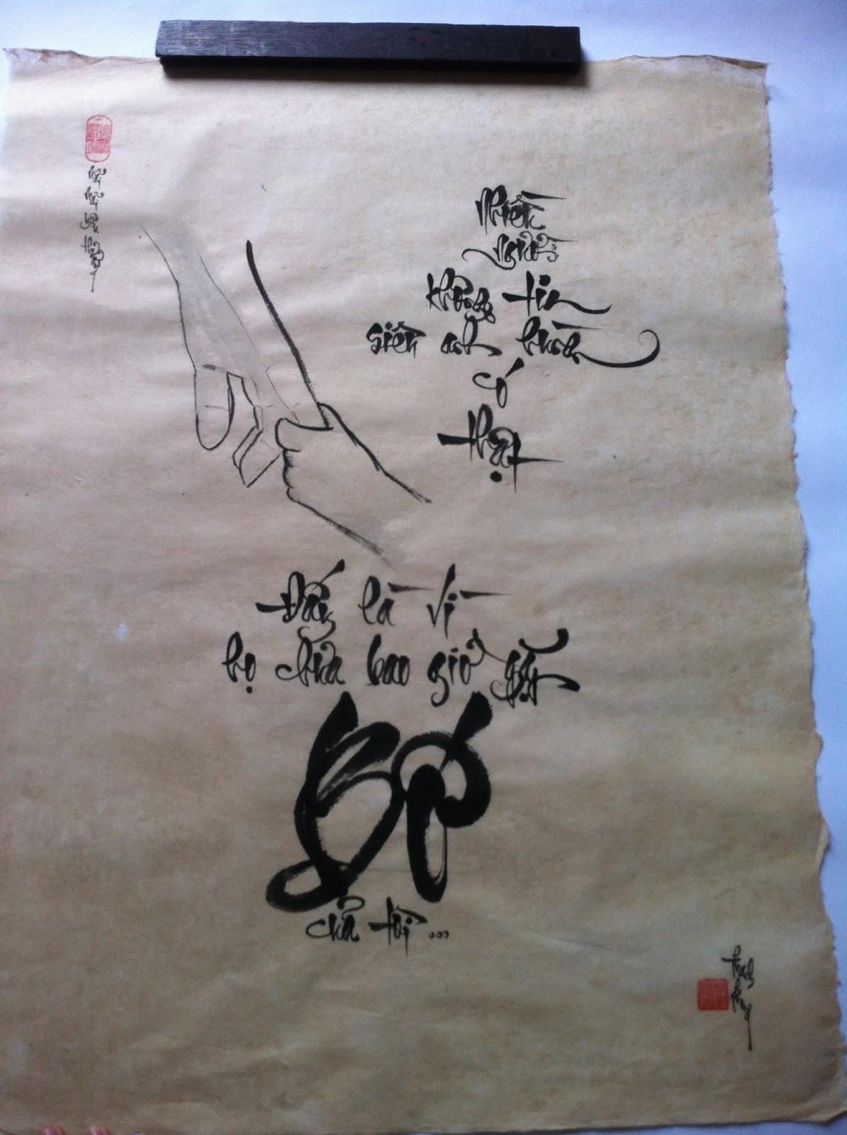 Dịch vụ viết thư pháp chuyên nghiệp tại Hà Nội - 0966 966 007