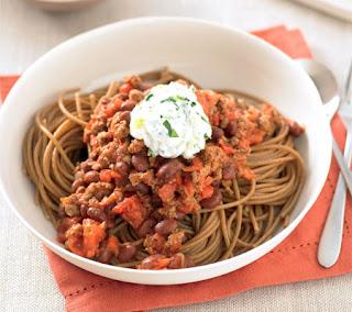 turkey chili with spaghetti recipe