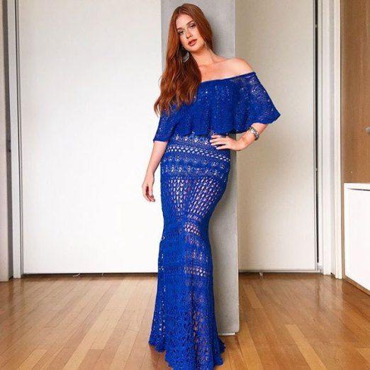 Vestido Longo Galeria Tricot Marina Ruy Barbosa