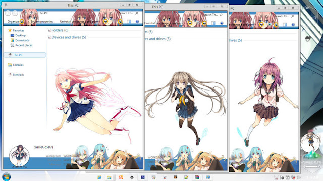 Windows 8.1 Theme Ao no Kanata by Andrea_37