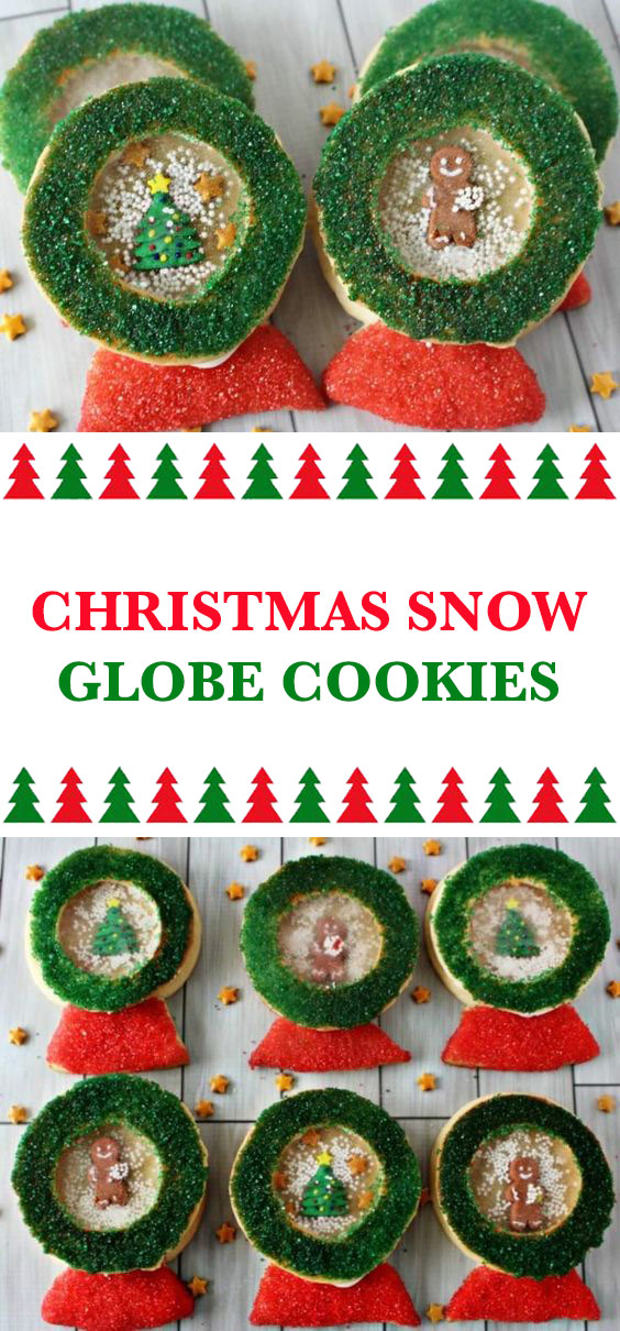 Christmas Snow Globe Cookies
