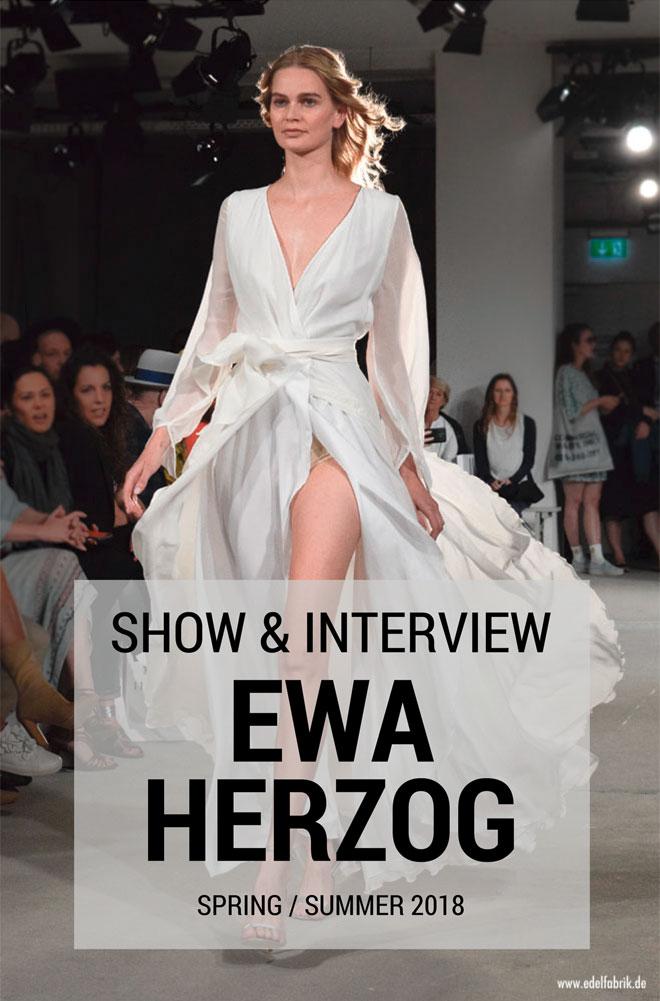 Ewa Herzog Spring Summer 2018, Berlin, Fashionweek