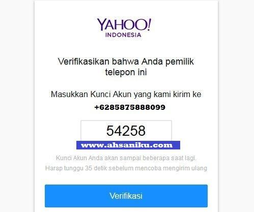 Verifikasi Bahwa Anda Pemilik Telepon