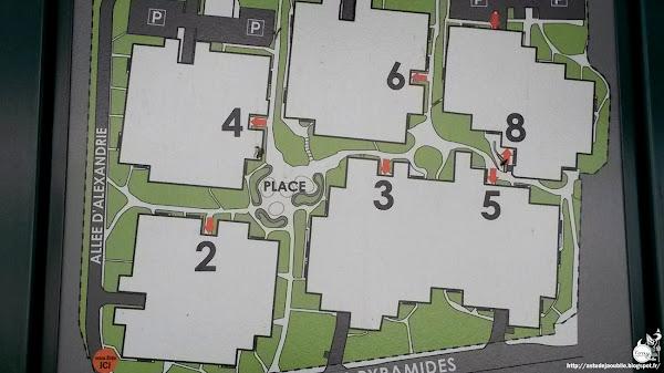 """Champs sur Marne - Immeubles d'habitation """"Les Terrasses de la Vallée"""", avenue des Pyramides  Architectes: ANPAR  (Michel Andrault, Pierre Parat)  Construction:  1971-1973"""