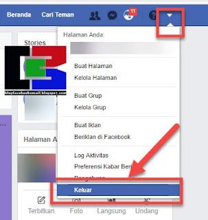 cara keluar dari facebook versi web