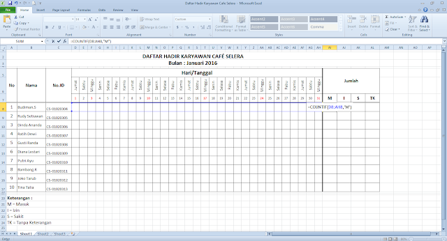 Cara Membuat Daftar Hadir Di Microsoft Excel Cara Membuat Daftar Hadir Di Microsoft Excel