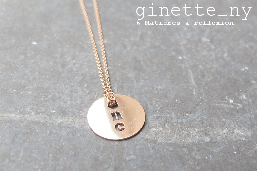 SOLDES Ginette NY collier