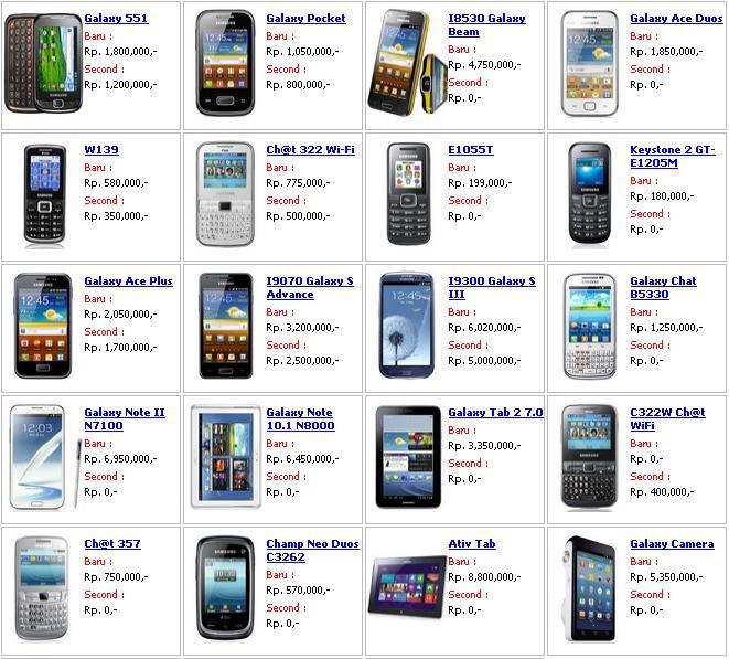 Daftar Harga Hp Samsung Galaxy Terbaru Lengkap Mei Lalod
