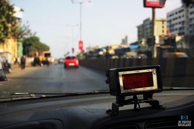 Mumbai street photos - metered taxi