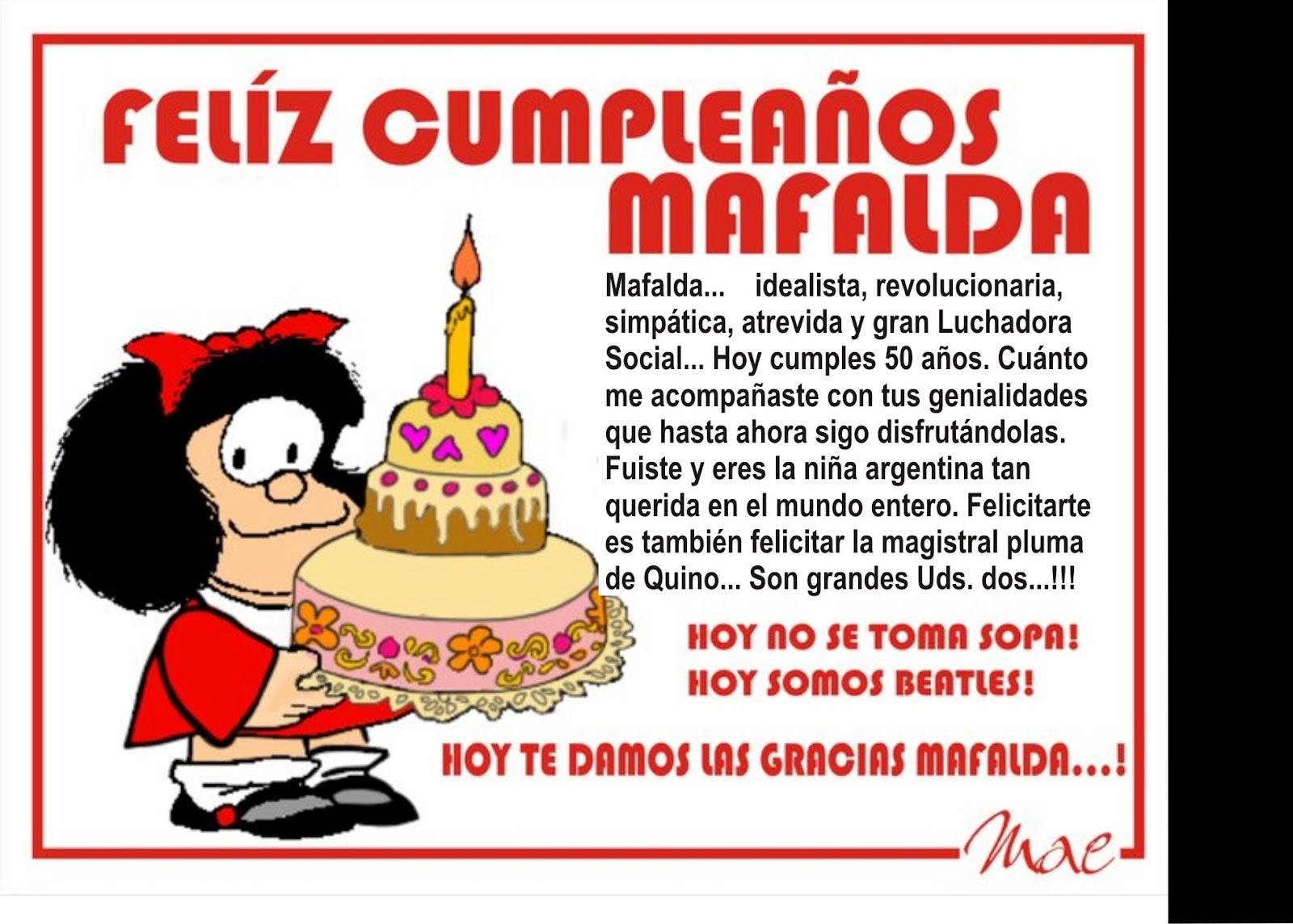 La Bohemia Noche Feliz Cumpleaños Mafalda