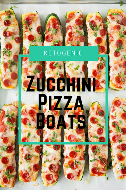 Zucchini Pizza Boats Ketogenic Recipes