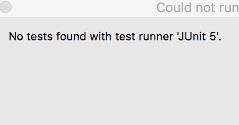 Mingtao's Java World: No tests found with test runner 'Junit 5'