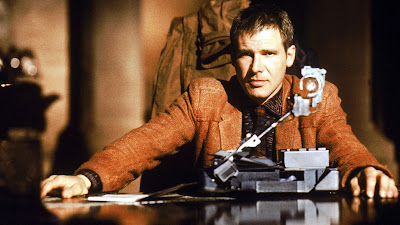 Deckerd performs the Voight-Kampff test on a Replicant suspect, Directed by Ridley Scott, starring Harrison Ford
