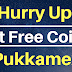 Hurry Up! Get Free Coins From Pukkamex Sign Up Bonus 50 Coins