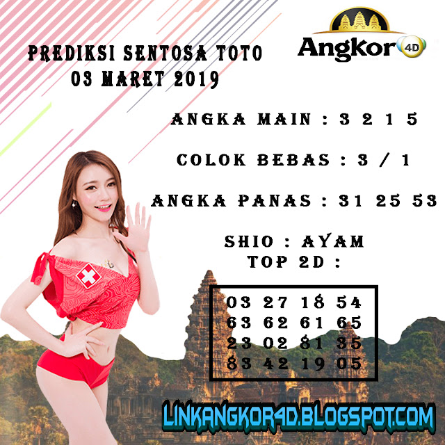 PREDIKSI SENTOSA TOTO 03 MARET 2019