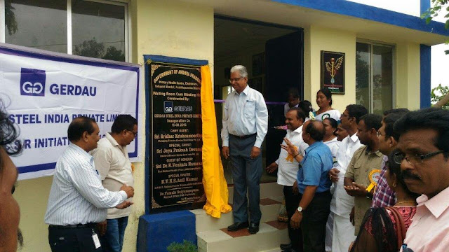 Gerdau contributes to improvisation of infrastructure at the Chukkalur Primary Health centre