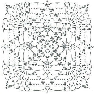 Hobby lavori femminili ricamo uncinetto maglia 8 piastrelle uncinetto schemi - Schemi piastrelle uncinetto ...